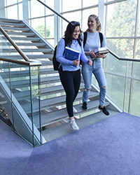 Students on stairs