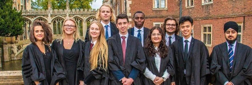 Image showing Cambridge University students